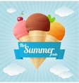 summer Vintage Ice Cream Poster vector image