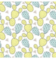 Color cactus seamless pattern Hand drawn cacti vector image
