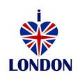 I love London t-shirt print tee typography vector image
