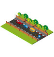 3d design for road scene with cars on road vector image