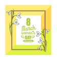 8 march womens day colorful vector image vector image