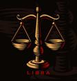 a libra zodiac sign vector image vector image