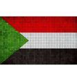Abstract mosaic flag of Sudan vector image vector image