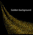 abstract shiny color gold wave design vector image vector image