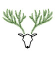 antler is made from the branches of the pine vector image vector image
