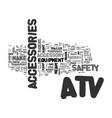 atv accessories text word cloud concept vector image vector image