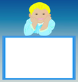 Blank Frame With Smiling Boy vector image vector image