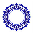 blue and white decorative round vector image vector image