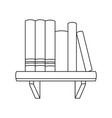 books shelf literature learn encyclopedia image vector image
