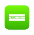 brick wall icon digital green vector image