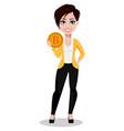 business woman freelancer banker vector image