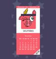 calendar for november 2019 vector image vector image