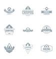 campsite logo set simple style vector image vector image