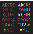 capital letters a to z vector image vector image
