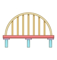 Classic bridge icon cartoon style