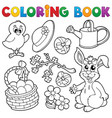 coloring book with easter theme 6 vector image