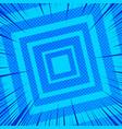 comic blue geometric background vector image