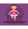 Cute girl ballerina vector image