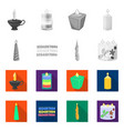 design of relaxation and flame icon set of vector image vector image