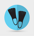 flippers icon vector image