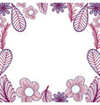 flowers branches decoration design vector image vector image