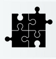four piece flat puzzle section compare service vector image vector image