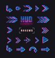 futuristic interface hud design elements set of vector image vector image
