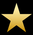 golden star simple form black background vector image vector image