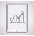 graph in tablet pc icon vector image