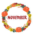 hand drawing lettering month november in a vector image vector image