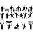 Human pictograms with different objects vector image vector image