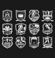 ice hockey tournament sport club cup emblem vector image vector image