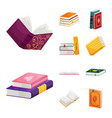 isolated object of library and bookstore symbol vector image