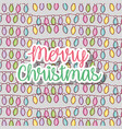 lights to merry chritsmas decoration background vector image