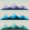 majestic mountains panorama background vector image vector image