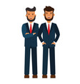 male business team bearded businessmen cartoon vector image vector image