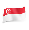 National flag of singapore red stripe with vector image
