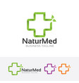 natural medical logo vector image vector image