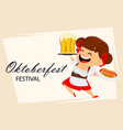 oktoberfest beer festival funny woman vector image