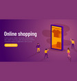 online shopping promotion smartphone app and vector image vector image