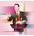 Orator vector image