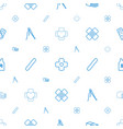 patch icons pattern seamless white background vector image vector image
