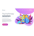 psychotherapy session landing page vector image