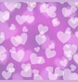purple violet bokeh heart pattern vector image vector image