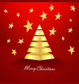 red christmas background with stars and gold vector image vector image