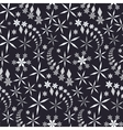 Seamless christmas pattern Crystal white and gray vector image vector image