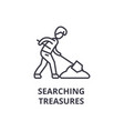 searching treasures thin line icon sign symbol vector image