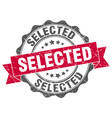 selected stamp sign seal vector image vector image