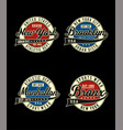 set athletic united states vector image vector image