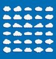 set cloud icon white color on blue background vector image